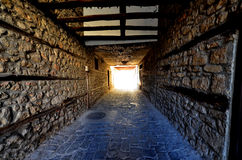 Calles de Ohrid, Macedona Imagen de archivo