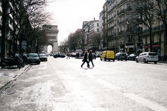 Calles de París Imagen de archivo