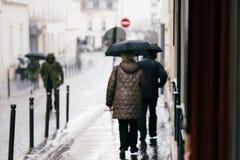 Calles de París Fotografía de archivo