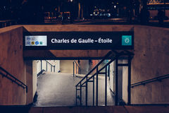 Calles de París Imagen de archivo libre de regalías