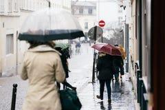 Calles de París Fotografía de archivo libre de regalías