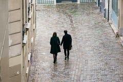Calles de París en la lluvia Fotografía de archivo libre de regalías