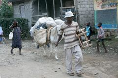 Calles de Petit Bourg de Port Margarita, Haití Fotografía de archivo libre de regalías
