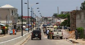 Calles de Pointe-Noire Foto de archivo