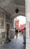 Calles de Quebec City Foto de archivo libre de regalías