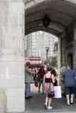 Calles de Quebec City Fotografía de archivo