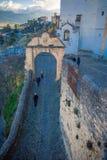 Calles de Ronda, Málaga, España fotografía de archivo