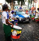 Calles de Salvador, el Brasil Foto de archivo libre de regalías