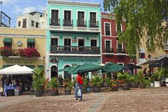 Calles de San Juan, Puerto Rico Fotografía de archivo libre de regalías