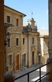 Calles de San Marino con las linternas, Europa Imágenes de archivo libres de regalías
