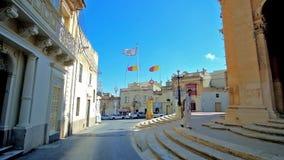 Calles de Siggiewi, Malta almacen de video