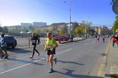 Calles de Sofia International Marathon Imagenes de archivo
