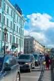 Calles de St Petersburg Foto de archivo libre de regalías
