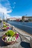 Calles de St Petersburg Imagen de archivo libre de regalías