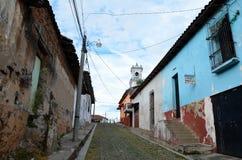 Calles de Suchitoto Fotos de archivo libres de regalías
