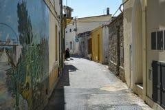 Calles de Tortoli imagen de archivo libre de regalías