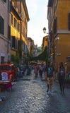Calles de Trastevere, Roma - Italia Imagen de archivo libre de regalías