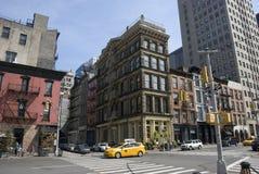 Calles de Tribeca en New York City, Manhattan Imágenes de archivo libres de regalías