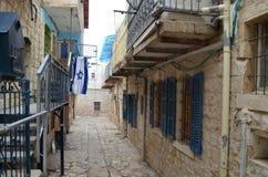 Calles de Tzfat Foto de archivo