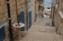 Calles de Tzfat Fotos de archivo libres de regalías