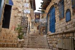 Calles de Tzfat Fotografía de archivo libre de regalías