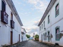 Calles de una ciudad histórica en el Brasil Foto de archivo libre de regalías