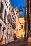 Calles de Zacatecas México Foto de archivo libre de regalías
