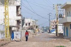 Calles del campo de refugiado Fotografía de archivo
