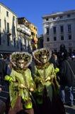 Calles del carnaval de Venecia Fotos de archivo libres de regalías