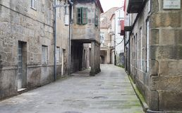 Calles del centro histórico de la ciudad de Pontevedra España Imagen de archivo
