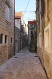 Calles del graduado de Stari fotografía de archivo