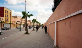 Calles en Biougra, Agadir, Marruecos imagen de archivo