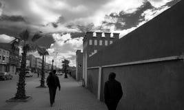 Calles en Biougra, Agadir, Marruecos imagen de archivo libre de regalías