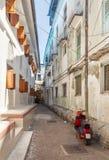 Calles en el corazón de la ciudad de la ciudad de la piedra Imagen de archivo libre de regalías