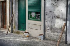 Calles en la ciudad de Viana do Castelo Imagen de archivo libre de regalías