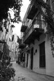 Calles en la isla de Kriti Imagen de archivo