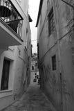 Calles en la isla de Kriti Foto de archivo