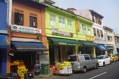 Calles en la poca India en Singapur Fotos de archivo libres de regalías