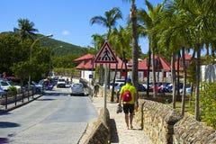 Calles en St Barths, del Caribe Foto de archivo libre de regalías