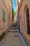 Calles estrechas de Montenegro Imagen de archivo libre de regalías