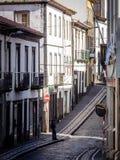 Calles estrechas de Ponta Delgada Imagen de archivo