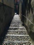 Calles estrechas en Bellagio Italia Foto de archivo libre de regalías