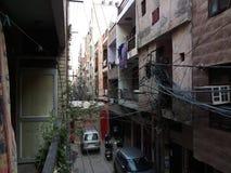 Calles indias fotografía de archivo