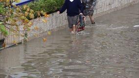 Calles inundadas almacen de video