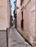 Calles italianas estrechas Fotos de archivo libres de regalías
