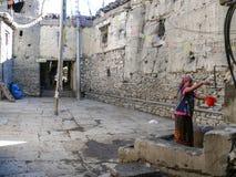 Calles medievales en Kagbeni, Nepal Fotografía de archivo