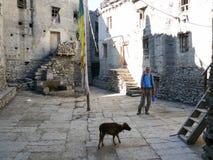 Calles medievales en Kagbeni, Nepal Fotografía de archivo libre de regalías