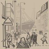 Calles muy transitadas libre illustration
