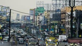 Calles muy transitadas de Manila Imagen de archivo