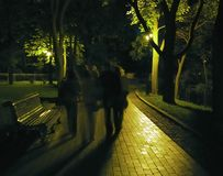 Calles nocturnas Imágenes de archivo libres de regalías